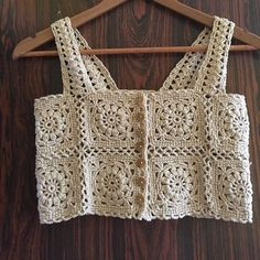 Crochet Bra, Crochet Shirt, Crochet Crop Top, Crochet Cardigan, Crochet Motif, Crochet Clothes, Crochet Stitches, Crochet Patterns, Crochet Magazine