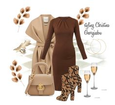 Untitled #225 by christina-geo on Polyvore featuring Joseph, Forever New, Gucci, Burberry and Allison Bryan