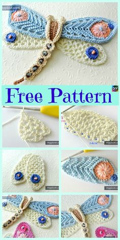 6 Beautiful Crochet Dragonfly Free Patterns #freepattern #dragonfly #amigurumi