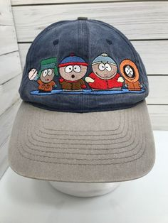 35229f8cf6b02 Vintage South Park Characters 1998 Comedy Central Strapback Dad Hat  Embroidered  ComedyCentral  BaseballCap