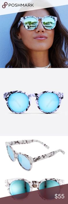"""Authentic Quay High Emotion in white marble Features:                              Polycarbonate Frame Polycarbonate Lens Stainless Steel Hinges Cat.3 Lens 100% UV protection                               Measures:                                                     Width:15cm - 5.9"""" Height:5.6cm - 2.20"""" Nose Gap:1.1cm - 0.43""""  ☀️No trades/price firm☀️ Quay Australia Accessories Sunglasses"""