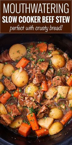 # Delicious beer and horseradish slow cooker beef stew . - # Delicious beer and horseradish slow cooker beef stew - Beef Soup Recipes, Beef Recipes For Dinner, Slow Cooker Recipes, Beef Stew Slow Cooker, Stewing Beef Recipes, Sauce Recipes, Beef Stews, Beef Pieces Recipes, Beef Dinner Ideas