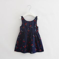 >> Click to Buy << 2-8T Children Dress Flower Girl 2017 New Summer Baby Girls Dress Fashion Pattern Print Design Sleeveless Girls Clothes #Affiliate