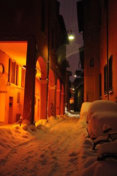 Bologna in the snow! How to get there: The Bologna Aerobus runs regularly from the Marconi International Airport. Forli Airport is 60km away   When to go: May, June and around October are best.