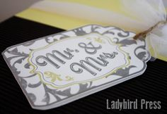Mr. and Mrs. Wedding Tag Card