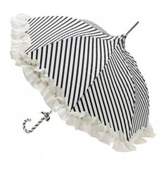 Black and White Umbrella with frilly flounce! My Fair Lady anyone?