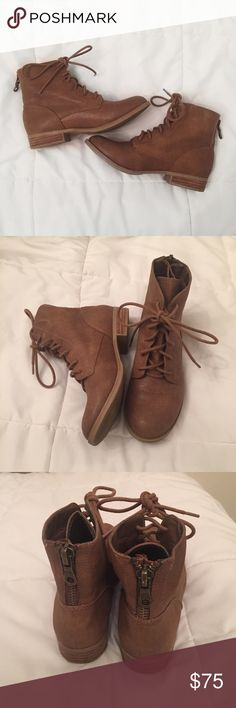 Ankle boots DSW light brown ankle booties. Low heel. Work once and in amazing condition. DSW Shoes Ankle Boots & Booties
