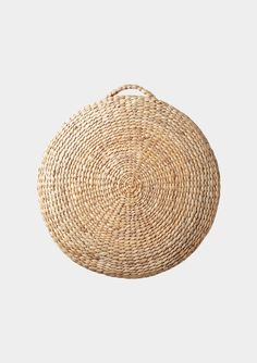 Made by villagers in Dong Thap province, Vietnam. When left to grow unchecked, water hyacinth clogs the waterways, restricting the movement of sediment and impeding aquatic life. Outdoor Cushions, Throw Cushions, Pillows, Africa Craft, Radial Pattern, Bird Boxes, Water Hyacinth, Textiles, A Perfect Circle
