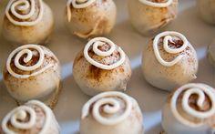 SAMPLER Cinnamon Bun Cake Truffles with White by lapetitepartie, $6.50