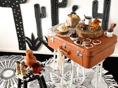 Mesa de doces simples para festa junina