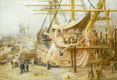 The 'Nelson Touch': Restoring HMS 'Victory', 1805–1925 - William Lionel Wyllie
