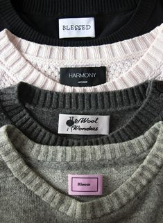 You need warm sweaters with cold weather but not without your own labels