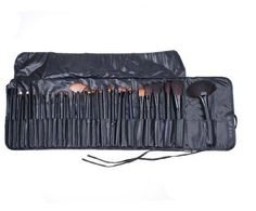32 Pcs Professional Makeup Brush Kit Facial Make up Cosmetic Brushes Black Leather Case -- Check out this great product.