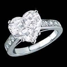 3 stone diamond rings in a heart shape - - Yahoo Image Search Results