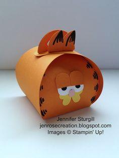Jen Rose Creation: Garfield Curvy Keepsake Box,  Stampin' Up!