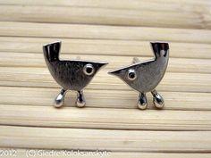 Little BIRD Stud Earrings Sterling Silver Mini Zoo by karramba, $24.00