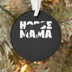 Horse Lovers | Mama Horse Black Gift Ornament #IAFF #feuerwehrauto #chive mother nature, mother gifts, son and mothers, dried orange slices, yule decorations, scandinavian christmas