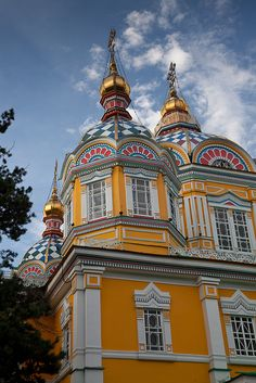 Zenkov cathedral, Panfilov Park Almaty, Kazakhstan. I would visit our exchange student from years' past :)