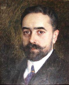 Nikolai Bogdanov-Belsky (Russian 1868–1945) [Realism] Portrait of Engineer N.Chizhov, 1911.