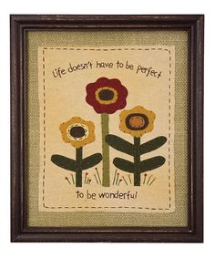 Take+a+look+at+the+'Life+Doesn't+Have+to+be+Perfect'+Wall+Art+on+#zulily+today!