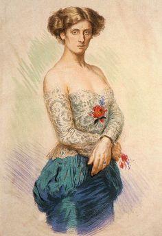 Max Švabinský (1873-1962):  'Portrait of Sidonie Nádherná'