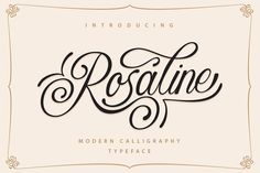 Give your next projects a new look with Rosaline Free Script Typeface! Rosaline typeface comes with elegant and modern style Calligraphy Fonts, Script Fonts, New Fonts, Modern Calligraphy, Caligraphy, Fontes Script, Police Script, Swirly Fonts, Fancy Fonts