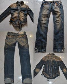 Completo jeans e giubbotto autunnale  marca Fracomina  Jeans tg 26 (IT 40) €25,00  Giubbotto tg M €40,00