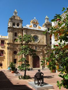 The colonial Church of San Pedro Claver in the old city of Cartagena, Colombia… Cruise Excursions, Cruise Destinations, Colombia South America, Latin America, Bolivia, Ecuador, Costa Rica, Architecture Baroque, Panama