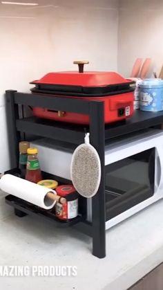 Diy Kitchen Storage, Kitchen Shelves, Home Decor Kitchen, Home Kitchens, Cool Kitchen Gadgets, Home Gadgets, Kitchen Stuff, Home Organization Hacks, Kitchen Organization