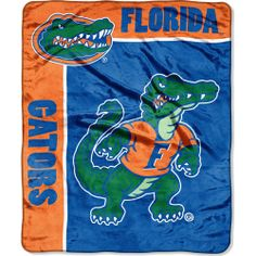 """NCAA Florida Gators Raschel Plush Throw """"School Spirit"""" Design Officially Licensed Blanket Measures Polyester Machine Wash Cold Using Cold Water and Delicate Cycle; Do Not Bleach; Tumble Dry on Low and Gentle Cycle; Do Not Iron Made in China Louisville Cardinals, Florida Gators, Light Switch Covers, School Spirit, Sports Fan Shop, Team Logo, Vibrant Colors, Graphic Tees, Plush"""