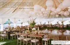 gorgeous tented reception. [by mindy weiss]
