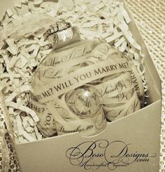 Christmas ornament marriage proposal