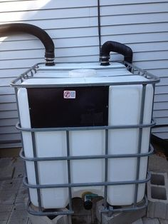Instructables website shares how to make a 275 gallon rain barrel rainwater catchment system for your home. Rainwater is amazing to water your garden with