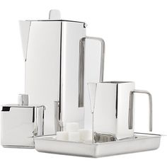 Cb2 stainless steel silver Coffee set