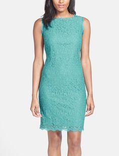 This boat neck lace sheath dress is the perfect wardrobe staple. Add flats for the weekend and pumps for work or an event.