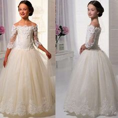 Spaghetti Straps Tulle Flower Girl Dress First Communion Dresses For Girls Pagea                                                                                                                                                                                 More