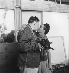 """Frida Kahlo and Diego Rivera by Nickolas Muray, 1939. Rivera called Kahlo """"the most important fact"""" of his life."""