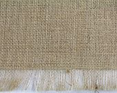 "Burlap Table Runner 24""x108"" with fringe, fine weave, rustic country weddings, home decor. Available in other colors.(BF-Rxx)"