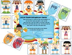 Free Letter/Sound Recognition Game from The Resource(ful) Room