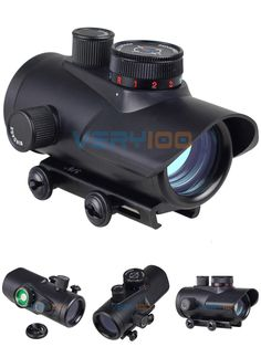 [Visit to Buy] Tactical Hunting Holographic Riflescope 30mm Red Green Blue Dot Sight Rifle Scope W/Mount RGB Fit 20mm Picatinny And Weaver Rail #Advertisement