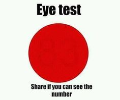 Eye Test - Share if you can see the number (Funny Weird Pictures) - test Funny Illusions, Cool Illusions, Optical Illusions, Illusions Mind, Funny Memes, Hilarious, Jokes, Funny Mind Tricks, Online Trivia