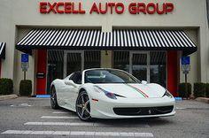 White Ferrari 458