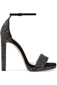 442fae5c1662 Jimmy Choo - Misty 120 glittered leather and suede sandals