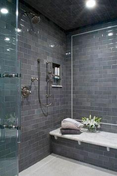 Classy and Modern Bathroom Shower Tile Ideas. 38 Classy and Modern Bathroom Shower Tile Ideas. 48 Classy and Modern Bathroom Shower Tile Ideas Bathroom Spa, Modern Bathroom, Master Bathroom, Bathroom Remodeling, Bathroom Ideas, Bathroom Showers, Master Shower, Bathroom Vanities, Basement Bathroom