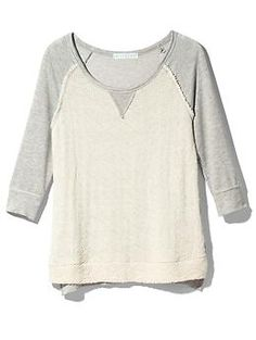 Potter's Pot Textured Knit Baseball Top | Piperlime