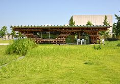 Cafe Kureon Toyama, Pergola, Archive, Outdoor Structures, Architecture, House Styles, Building, Wood, Outdoor Decor