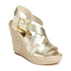 Michael Kors Women's Giovanna Leather Wedge Sandal >>> Find out more about the great product at the image link.