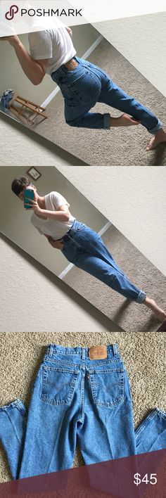 Vintage Levi's 512 mom jeans Classic vintage Levi's 512 high waisted mom jeans in excellent condition! ❤️ they don't make Levi's like this anymore. Such a beautiful fit and tapered throughout the legs. Waist is 25/26 inches and inseam is 29 inches but can always be cut or rolled to adjust Levi's Jeans