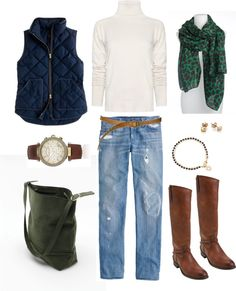 """Green and Navy"" by bluehydrangea ❤ liked on Polyvore"
