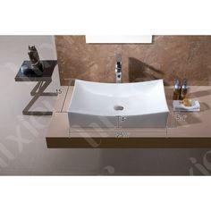 Luxier CS-001 Bathroom Porcelain Ceramic Vessel Vanity Sink Art Basin - - Amazon.com